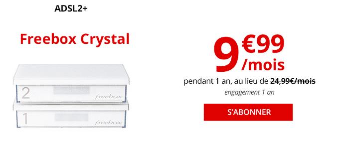 Freebox Crystal en promotion chez Free.