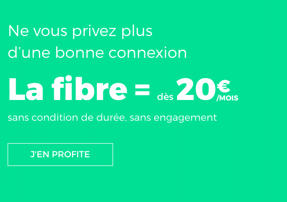 Box internet sans engagement à partir de 15€ chez RED by SFR.