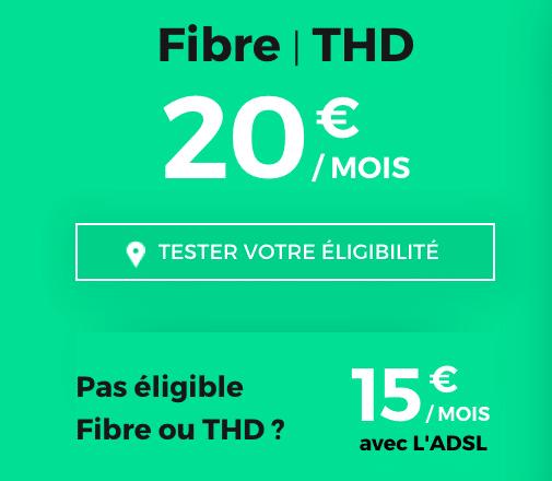 Box internet fibre optique ou ADSL à prix réduit chez RED by SFR sans engagement.