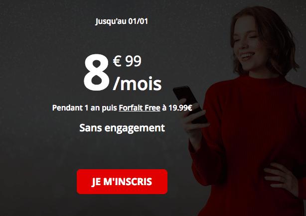 Le forfait de Free mobile.