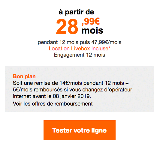 La Livebox Up Orange.