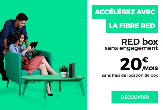 Fibre optique en promotion chez RED by SFR.