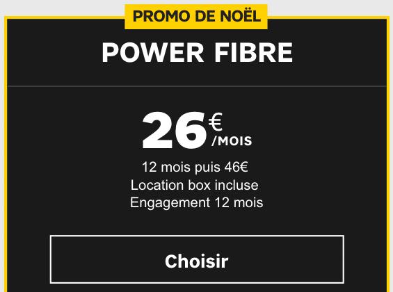 Power Fibre box internet en promo chez SFR.