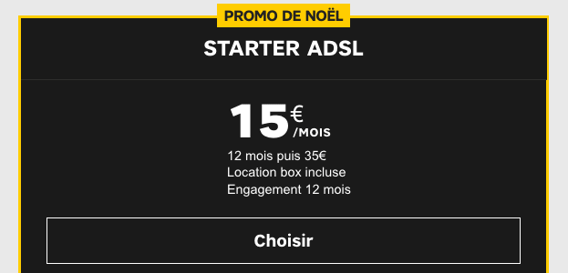 Box internet Starter ADSL de SFR en promotion.