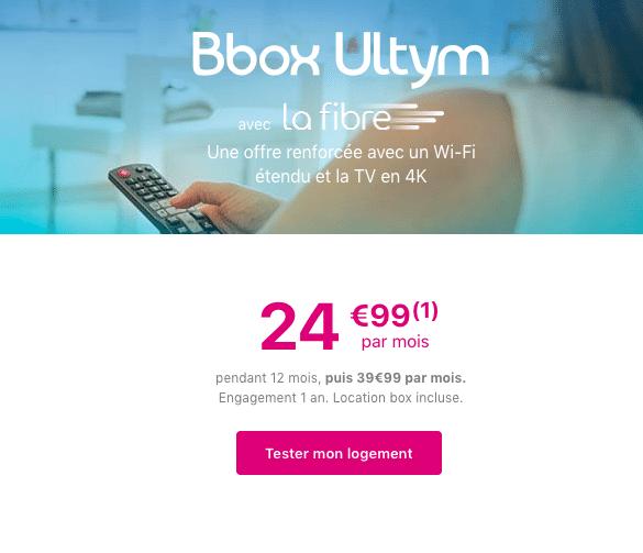 La box internet et TV 4K de Bouygues Telecom.