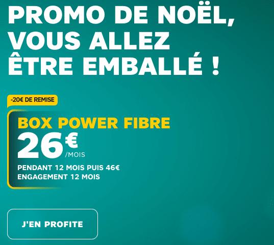Box internet Power Fibre de SFR compatible 4K promotion.