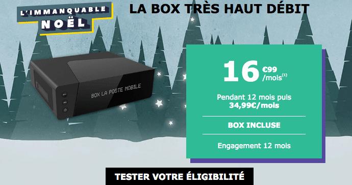 Box internet La Poste Mobile promotion fibre optique.