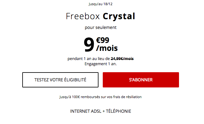 Promotion box internet ADSL chez Free.