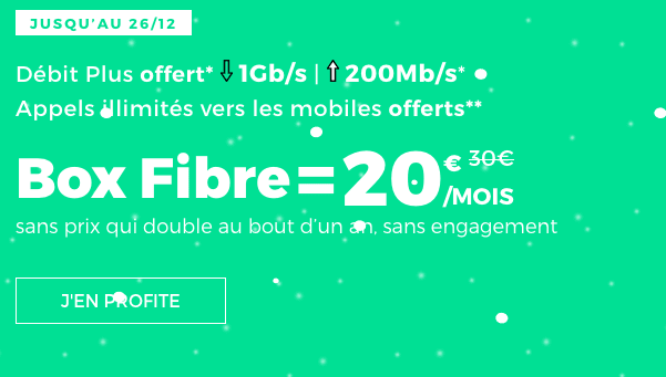 Promotion box internet red by sfr.