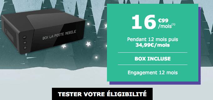 Box internet La Poste Mobile promotion avec la fibre optique.