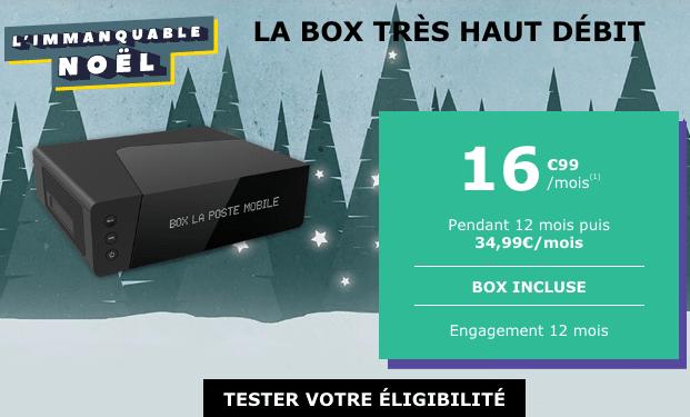 Remises pour profiter de la fibre optique avec la box internet pas chère de La Poste Mobile.