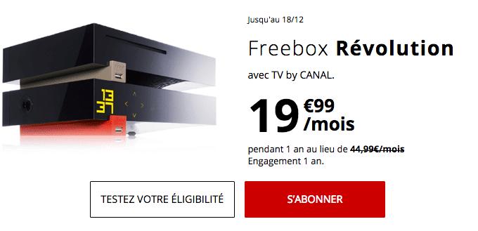 Freebox Révolution en promotion chez Free avec la fibre optique.