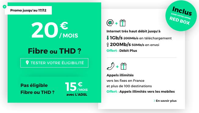 RED by SFR box internet fibre optique pas chère.