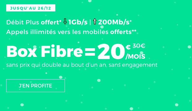 box internet sans engagement de RED by SFR en promotion avec la fibre optique.