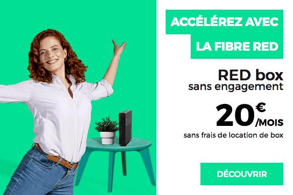 RED by SFR box internet pas chère fibre optique sans engagement.