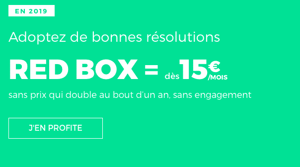 Box internet fibre optique ou adsl sans engagement chez RED by SFR.