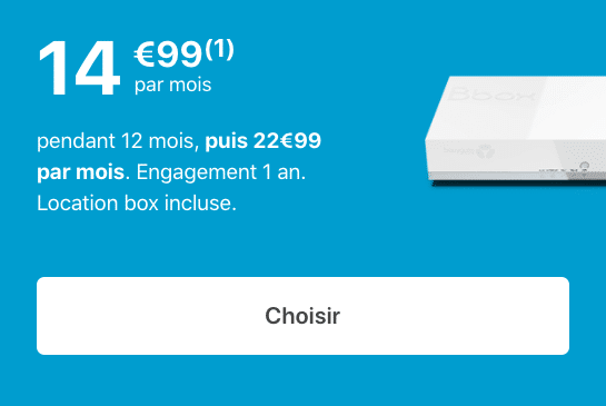La box internet ADSL de Bouygues Telecom.
