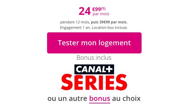 Canal+ séries avec la Bbox Ultym, box internet de Bouygues Telecom.