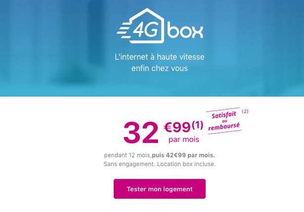 4G illimitée chez Bouygues Telecom avec la 4G box.