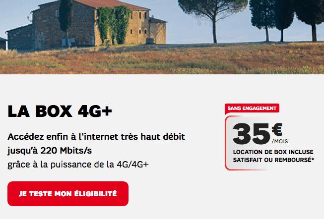 Box 4G ou 4G+ en promo chez SFR.