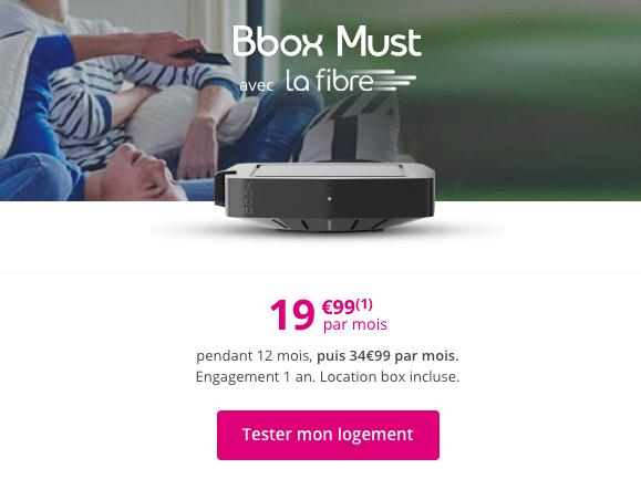 l'offre fixe pas chère de Bouygues Telecom.