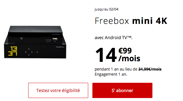 Freebox minu 4K promotion Free.