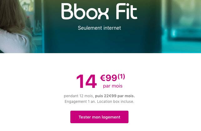Bbox Fit box internet adsl pas chère.