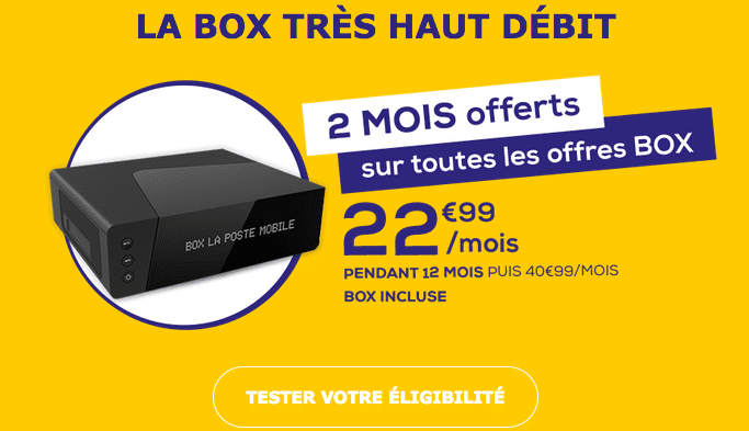 Box internet fibre optique en promotion chez La Poste Mobile.