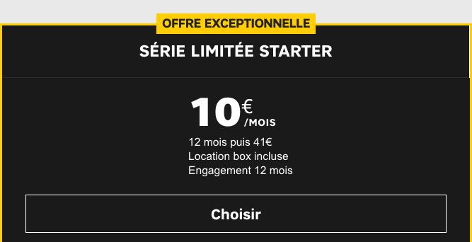 Promotion box internet fibre optique de SFR.