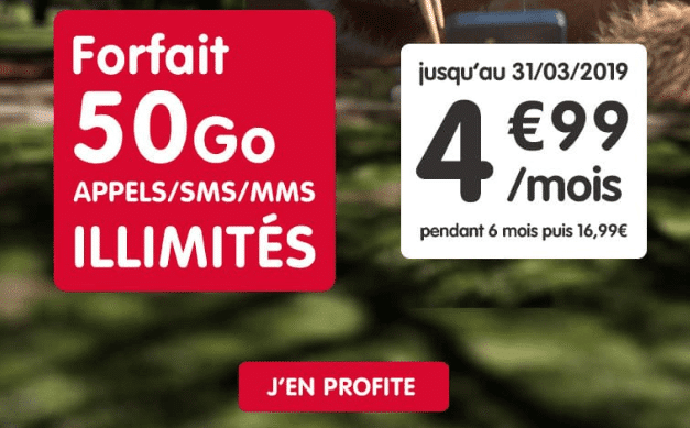 NRJ Mobile promotion forfait 4G pas cher.