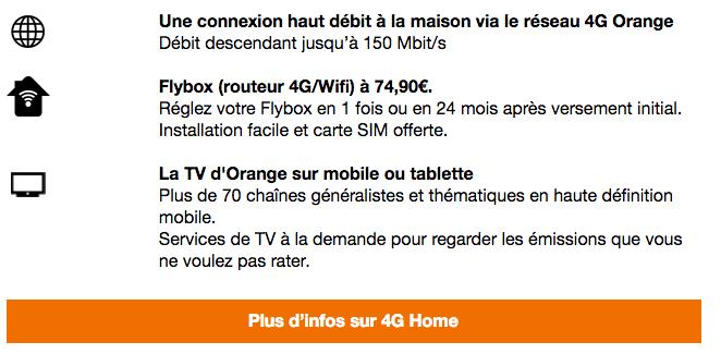 4G Home Orange box 4G promo.