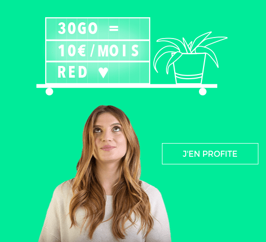 le forfait 30 Go de RED by SFR