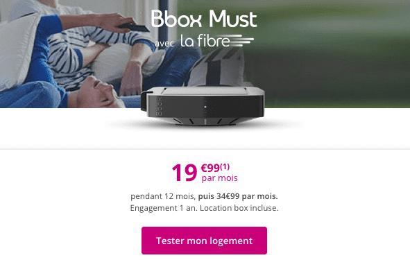 Bbox Must, la box internet fibre optique pas chère de Bouygues Telecom.