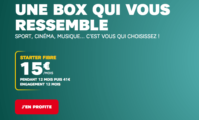 Box internet fibre optique en promo chez SFR.