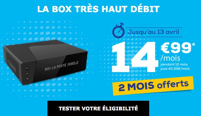 Box internet fibre optique pas chère chez La Poste Mobile.