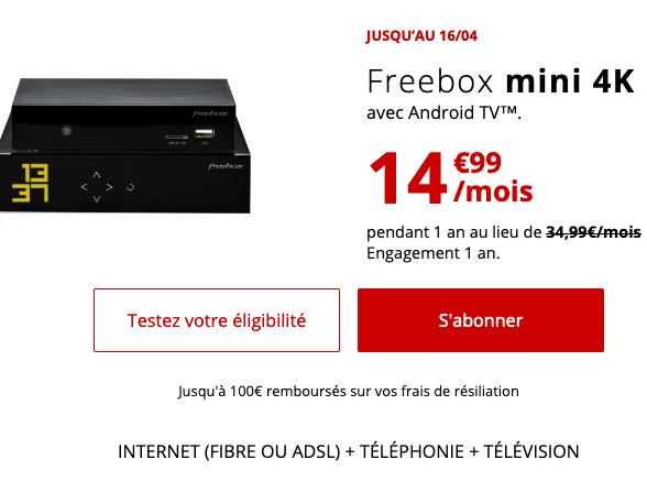 Freebox mini 4K, un bon plan pour la fibre optique de Free.