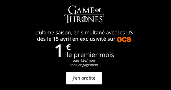 Game of Thrones sur sa box internet fibre optique Bouygues Telecom.