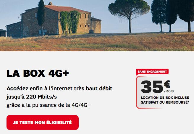 Box Internet 4G SFR promo.