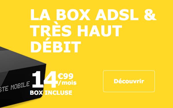 Haut débit promo La Poste mobile.