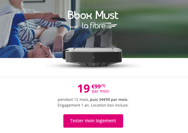 Bbox Must : la box internet en promotion de bouygues