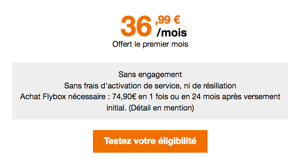 Box 4G en promotion chez Orange.