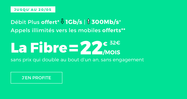 Box fibre optique promo chez RED by SFR.