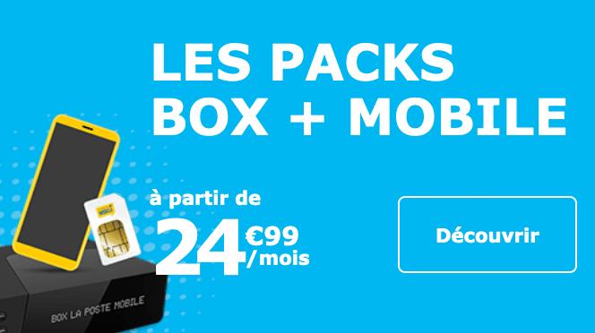 Box internet et forfait mobile à bas prix chez La Poste Mobile.