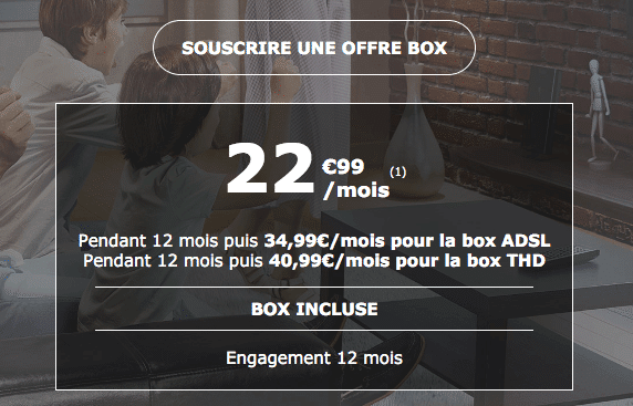 Abonnement box internet pas cher La Poste Mobile.