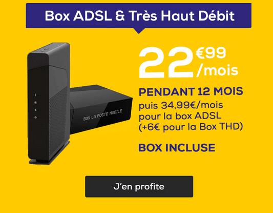 Box internet pas chère avec un forfait La Poste Mobile