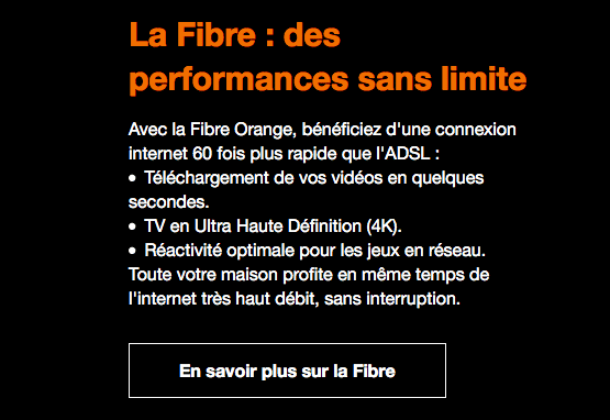 Orange fibre optique promo.