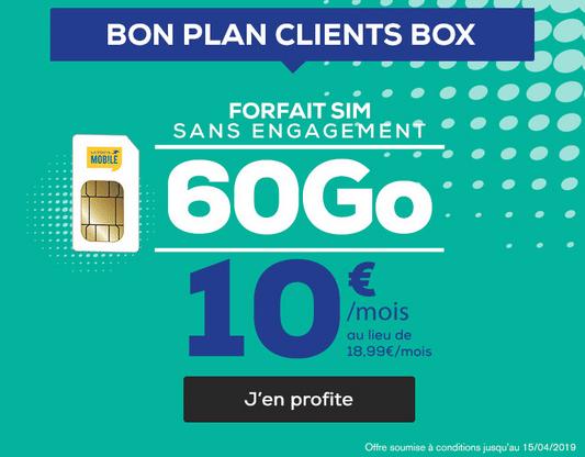 Forfait La Poste Mobile en promo avec une box internet.