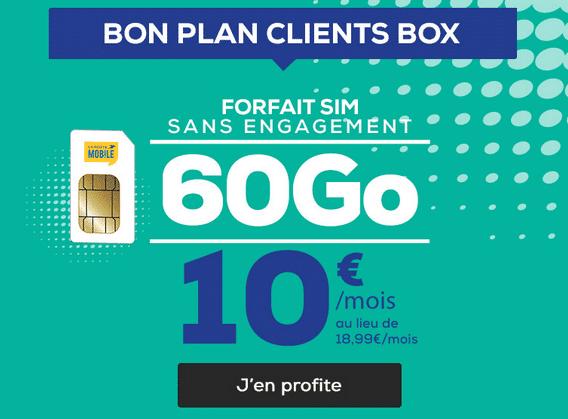 60 Go de 4G pas cher chez La Poste Mobile.