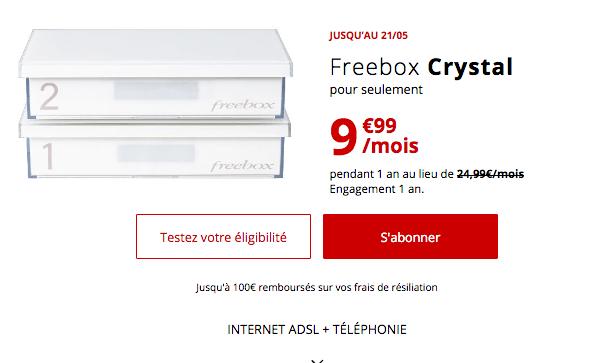Promotion box internet ADSL pas chère chez Free.