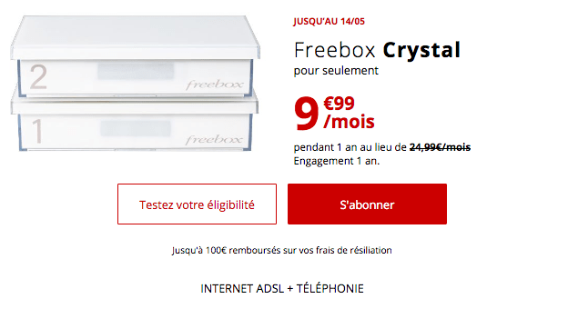 Promotion box internet Free avec l'ADSL.